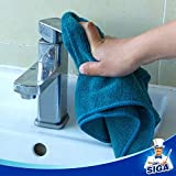 """MR.SIGA Microfiber Cleaning Cloth, Pack of 6, Size: 13.8"""" x"""