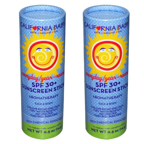 California Baby Everyday Year-Round SPF 30+ Sunscreen Stick - 0.5 oz. - 2 Pack by California Baby (Image #1)