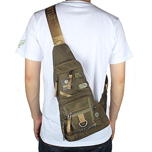 Innturt Nylon Sling Bag Daypack Travel Gym Backpack (S1-Army Green) by Innturt (Image #8)