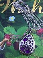 KOKO AROMA Teardrop Diffuser Necklace Stainless Steel Locket Pendant