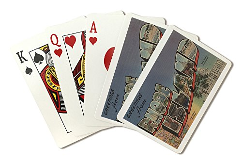 Greetings from Rhode Island (State Capital/Flower) (Playing Card Deck - 52 Card Poker Size with Jokers)