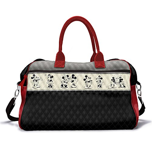 Disney Love Story Mickey Mouse And Minnie Mouse Quilted Weekender Tote Bag by The Bradford Exchange