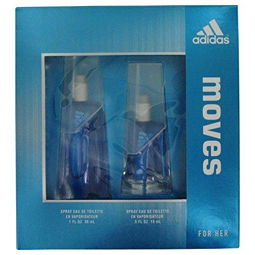Adidas Moves for Her Gift Set -1.0 Fl. Oz Eau De Toilette Spray-.5 Oz. Eau De Toilrtte Spray