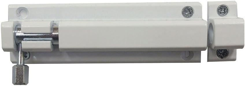 Codkey - Pestillo de aleación de aluminio resistente a la intemperie, movimiento suave y silencioso, para interior y exterior, blanco