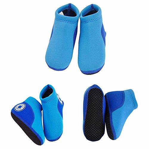 Vine Unisex bebés de los muchachos nadada de los zapatos de los zapatos del agua de playa infantil Zapatos de bebé suaves del neopreno Foulard, 14cm Blanco Blue