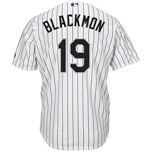 Outerstuff Charlie Blackmon Colorado Rockies White Youth Cool Base Home Replica Jersey (X-Large 18/20)