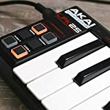 Akai Professional LPK25 | 25-Key Ultra-Portable USB MIDI Keyboard Controller for Laptops