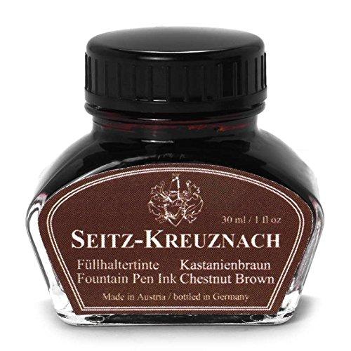 Brown Fountain Pen Ink - Seitz-Kreuznach Fountain pen ink Chestnut Brown, 1 fl oz, Colors of Nature