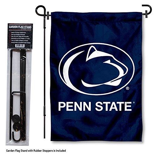College Flags and Banners Co. Penn State Nittany Lions Garden Flag with Stand Holder