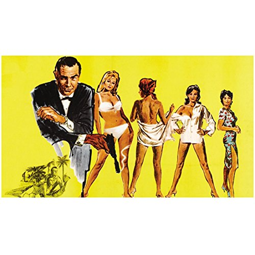 Sean Connery as James Bond Ursula Andress as Honey Ryder Nikki Van der Zyl as Honey Ryder in Dr. No Colorful Artistic 8 x 10 Inch Photo