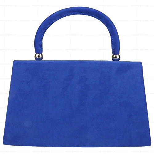 Prom Velvet Bag Wocharm Purse Womens Wedding Tote Envelope Party Girls Suede Blue Bag Bag Royal Clutch agwxwnHq