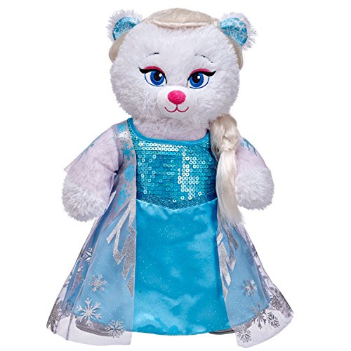 Build A Bear NEW Disney's FROZEN Elsa White Bear with Outfit & Hair (Build A Bear Frozen Elsa)