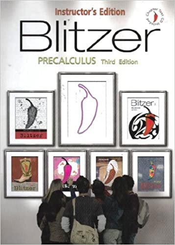 Blitzer precalculus instructors edition robert blitzer blitzer precalculus instructors edition robert blitzer 9780131880450 amazon books fandeluxe Image collections