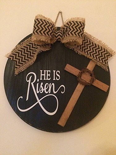 Amazon Com 18 Beautiful Black Wooden Religious Easter He Is Risen