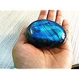 Besthk Labradorite Palm Stone Crystal Healing Gemstone Worry Therapy Smooth Soap Shape