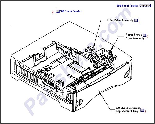(HP RM1-0056-040CN PAPER PICK-UP DRIVE ASSY )