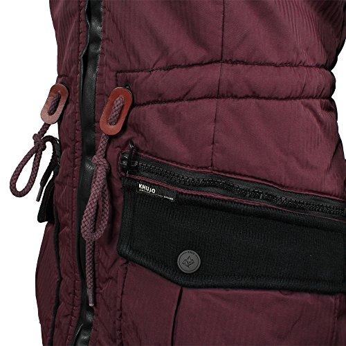 abrigo Dark mujer de Marsala Khujo invierno Retro Bugs 5RzgRq7x