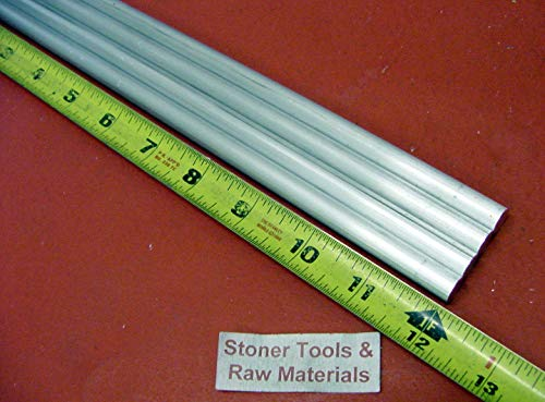 4 Pieces 5/16'' Aluminum 6061 Round Rod 12'' Long T6511 .312 Solid Lathe Bar Stock