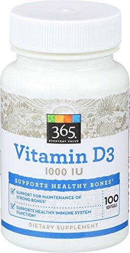 365 Everyday Value, Vitamin D3 1000 IU, 100 ct