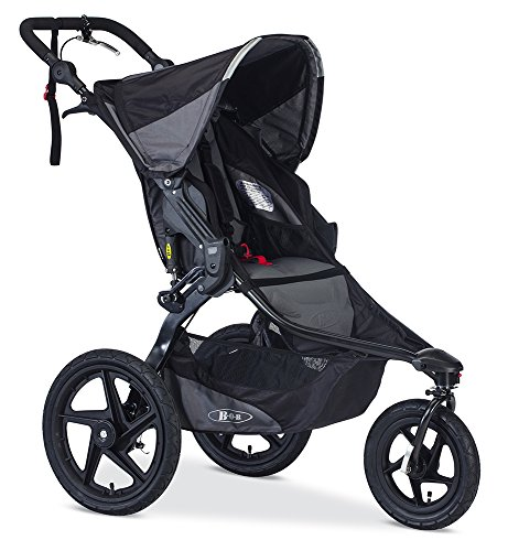 Bob Revolution Pro Jogging Stroller Up To 75 Pounds Upf 50 Canopy Easy Fold Adjustable Handlebar With Hand Brake Black