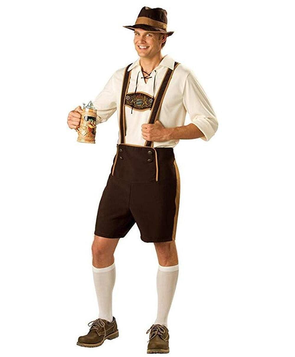 Halloween The Munich Oktoberfest Costume Beer Festival Man Adult Fancy Dress Polyester