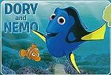 Large Disney 54''x80'' Extra Soft Non-Slip Back Area Rug (Dory and Nemo)