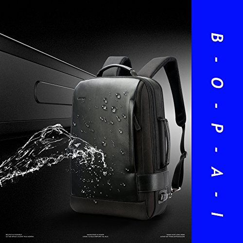 Bopai Business 15.6 inch Laptop Backpack Intelligent Increase Compartment Invisible Anti-theft Laptop Rucksack USB Charging and Water Resistant College Travel Men Backpack, Black by Bopai (Image #6)