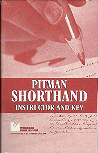 pitman shorthand instructor and key ebook free download