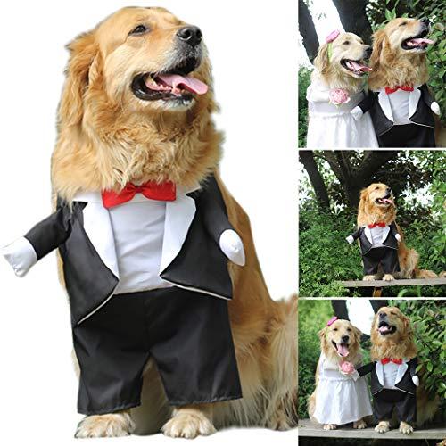 Legendog Dog Costume Clothes Bride and Groom Cosplay