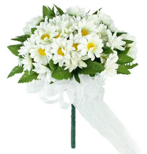 (Daisy Silk Hand Tie Small - Silk Wedding Bridal Bouquet)