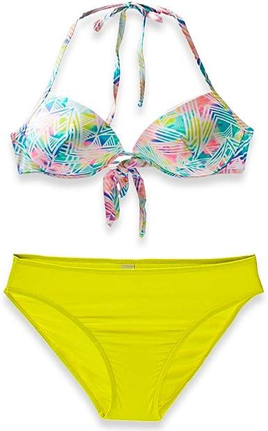 Grande taille femme deux pièces maillot de bain Swimwear Halter robe de bain Swim Briefs Rembourré