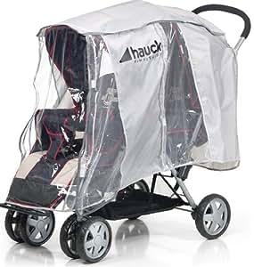 Hauck 550083 protector para la lluvia para silla de paseo doble beb - Protector coche silla bebe ...