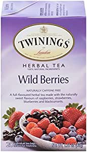 Twinings Herbal Tea, Wild Berries, 20 Count Bagged Tea (6 Pack)