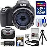 Kodak PIXPRO AZ901 90x Astro Zoom Digital Camera (Black) 32GB Card + Case + Tripod + Strap Kit