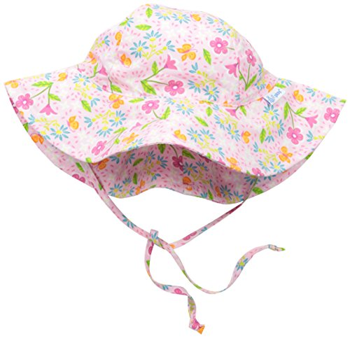 i-play-baby-girls-brim-sun-protection-hat-pink-spring-garden-9-18-months