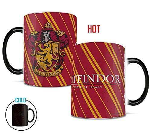 Harry Potter - Hogwarts House Colors - Gryffindor - Morphing Mugs Heat Sensitive Mug - 11 Ounces