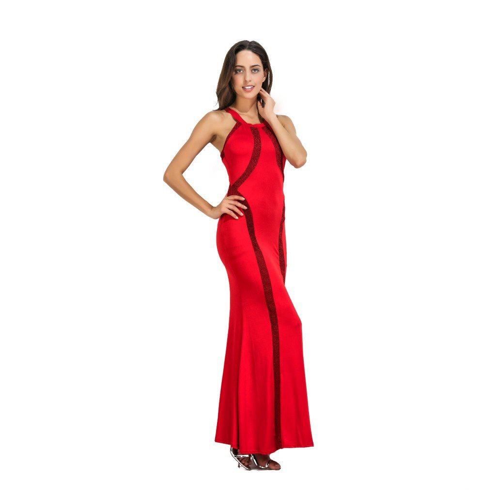 WANG Vestido de Noche Largo Atractivo de la Fiesta del Uno Mismo-Cultivo de los Vestidos de Las Mujeres (Color : Rojo, Tamaño : S): Amazon.es: Hogar