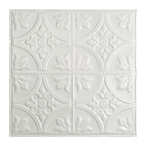 Matte Copper Backsplash (Great Lakes Tin Jamestown Matte White Nail-Up Ceiling Tile (12