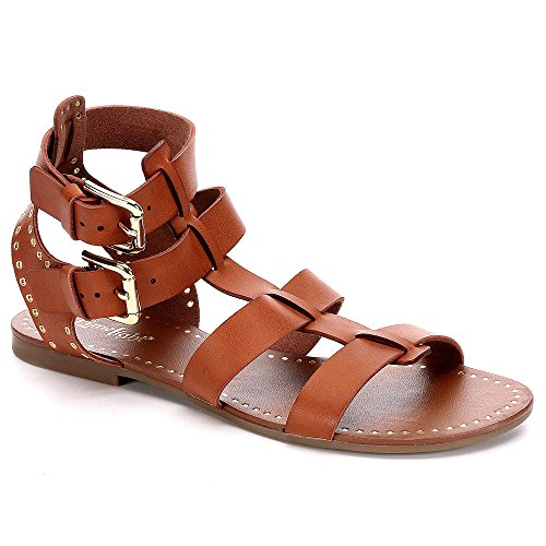 Limelight Womens JoJo Gladiator Sandal Shoes, Brown, US 8