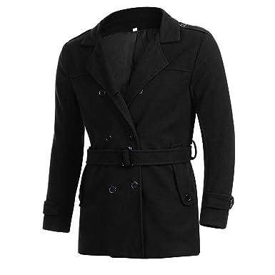URSING Herren Herbst Winter Slim Fit Langarm Anzug Jacke