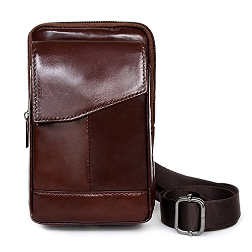 iPhone Leather Pouch Cases Small Messenger Bag Waist Pack Travel Pouch