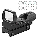 ESSLNB Red Dot Scope 4 Reticles Gun Sight Scope Reflex Sight for Airsoft Guns Pistol Shotgun with 20/22mm Weaver Picatinny Rail Mount (Black Sight Scope)
