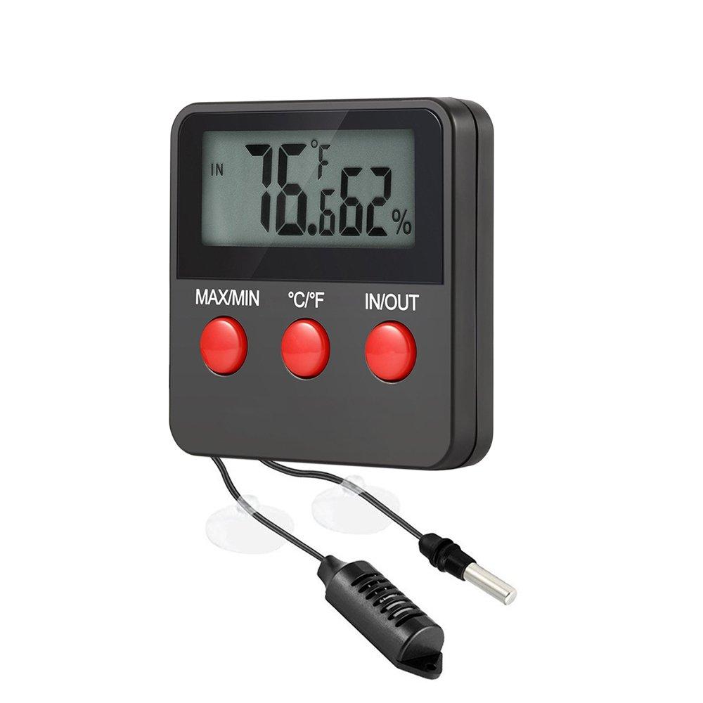 Intérieur Extérieur Thermomètre et hygromètre Digital Reptile sondes avec Télécommande–Idéal pour Les Reptiles, Terrariums, Incubators avec Max Min Value China
