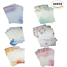 48PCS DLOnline Writing Stationery Paper , Letter Writing Paper Letter Sets