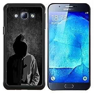 """Be-Star Único Patrón Plástico Duro Fundas Cover Cubre Hard Case Cover Para Samsung Galaxy A8 / SM-A800 ( Anonymous Faceless Máscara capucha Sudadera hombre"""" )"""