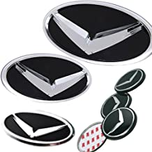 "Autoria Eagle Front + Rear + Steering Wheel Horn + 18"" Center Wheel Hub Cap V Emblem 7-pc Set For 2015 Hyundai LF Sonata"