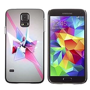 Be Good Phone Accessory // Dura Cáscara cubierta Protectora Caso Carcasa Funda de Protección para Samsung Galaxy S5 SM-G900 // Shapes Polygon Purple Pink