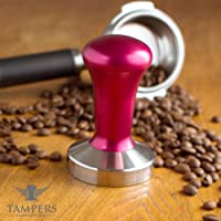 Premium Espresso Coffee Tamper with Stainless Steel Base (Red)