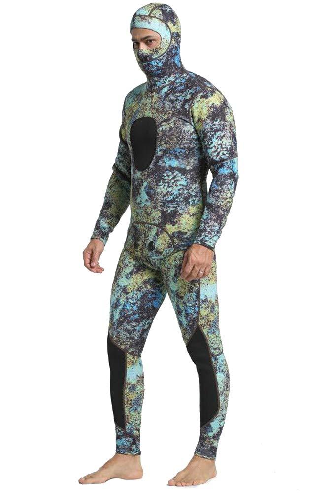 ウェットスーツ3ミリメートル男性分割ダイビングスーツダイビング素材ナイロン防止クラゲサーフスーツ暖かい保つ B07PF3YVF7 Medium  Medium