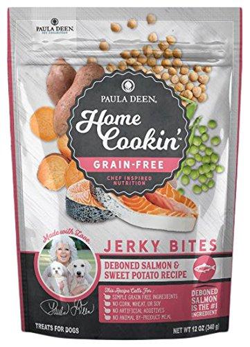 Paula Deen Home Cookin' Pet Collection Grain Free Deboned Salmon & Sweet Potato Recipe Jerky Bites, All Sizes